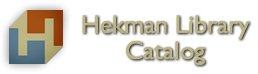 Hekman Library Catalog